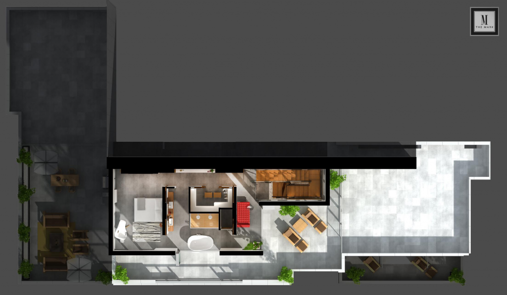 The Mark penthouse floorplan
