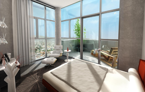The Mark Penthouse Master Bedroom Rendering