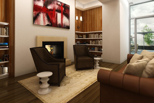 The Mark Penthouse Living room option