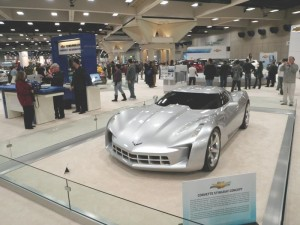 A Corvette Stingray Concept that was used in an upcoming Hollywood Movie.